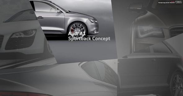 The Audi Salon website