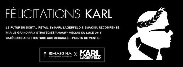 Emakina Karl Lagerfeld award