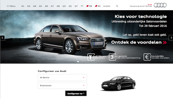 Audibe Website Combines Rich Integrated Experience With Powerful - Audi car owners database