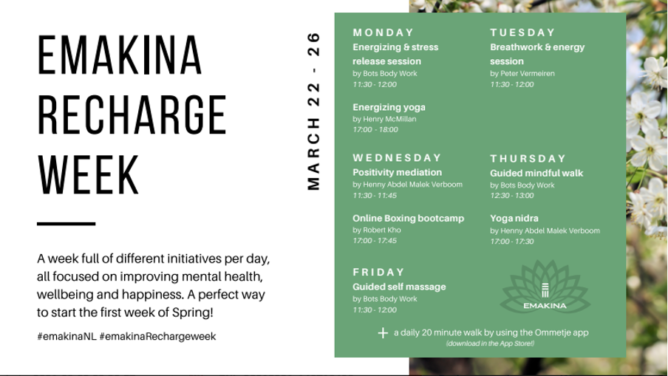 Recharge Week: mental health and wellbeing at Emakina